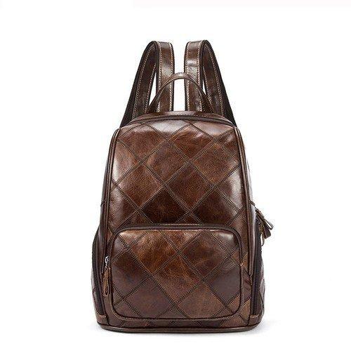 Brown Vintage Leather Laptop Backpack - Uzes