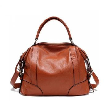 Casual Leather Messenger Handbag - Maisse