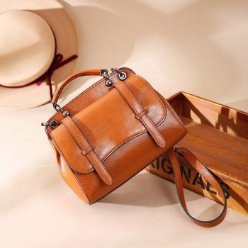 Classic Crossbody Leather Shoulder Bag - Sai1
