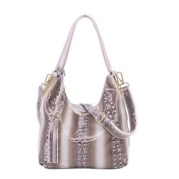 Classic Flashy Lady Leather Tote Bag - Toury