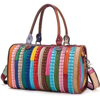 Colorful leather Shoulder Bag For Women - Trets