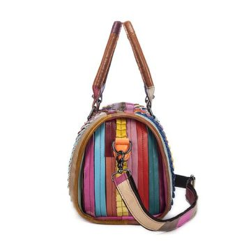 Colorful leather Shoulder Bag For Women - Trets1