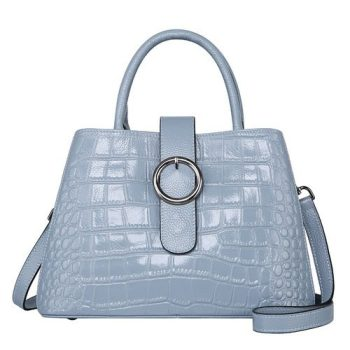 Elegant Crocodile Pattern Leather Purse - Vichy