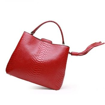 Elegant Crocodile Pattern Leather Purse - Percy