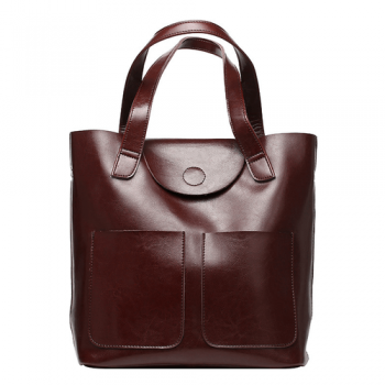 Elegant Leather Tote Bag - Lyon8