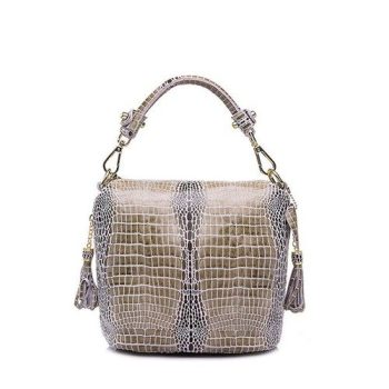 Fashion Elegant Serpentine Pattern Leather Handbag - Lassy