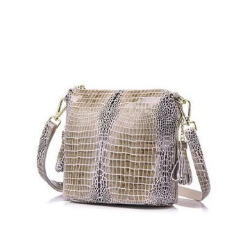 Fashion Elegant Serpentine Pattern Leather Handbag - Lassy3