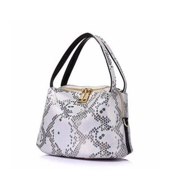 Fashion Snake Pattern Leather Handbag - Moriers