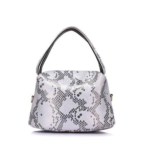 Fashion Snake Pattern Leather Handbag - Moriers1