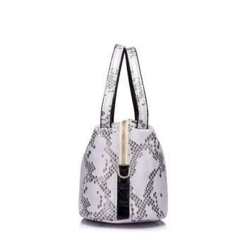 Fashion Snake Pattern Leather Handbag - Moriers2