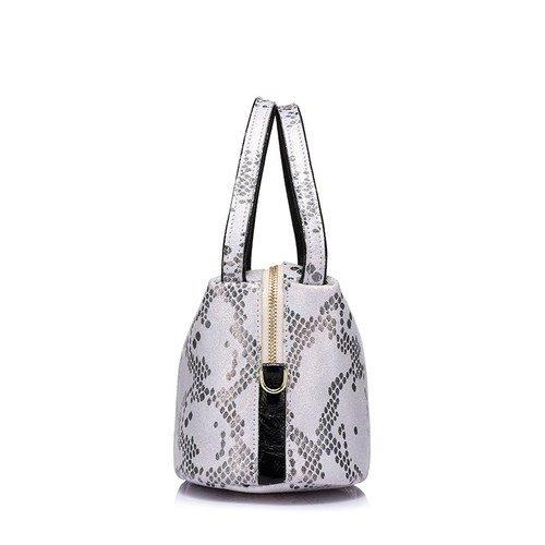 Fashion Snake Pattern Leather Handbag - Moriers2