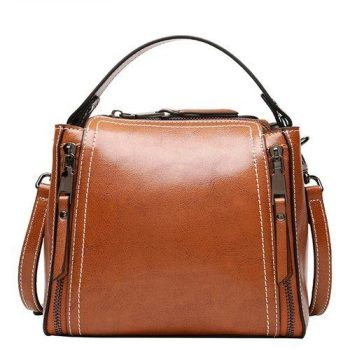 Formal Leather Shoulder Handbag - Moutiers