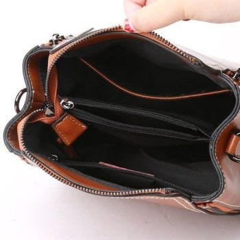 Formal Leather Shoulder Handbag - Moutiers2
