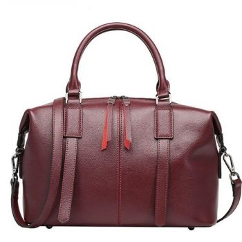 Formal Top-Handle Leather Crossbody Bag - France