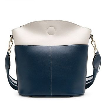 Futuristic Crossbody Leather Bag With Large Capacity - Olle