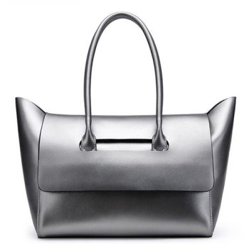 Futuristic Modern Leather Tote Bag - Mage