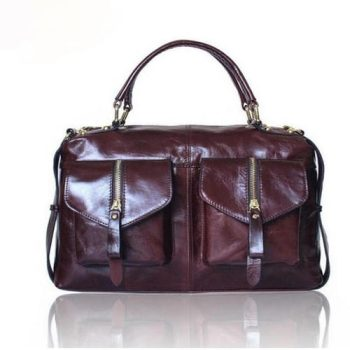 Garnet Women's Vintage Leather Messenger Bag - Nantes