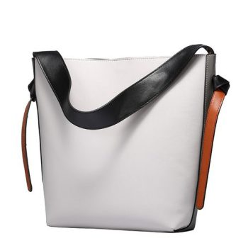 High Capacity Leather Tote Bag - Reims