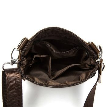 Leather Crossbody Mini Messenger Bag - Ales3