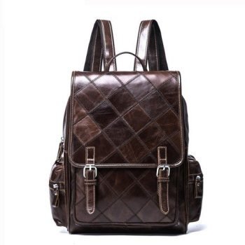 Leather Stylish Vintage Backpack - Arles