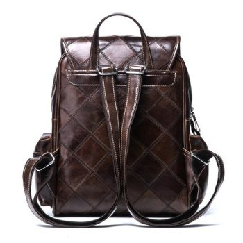 Leather Stylish Vintage Backpack - Arles1