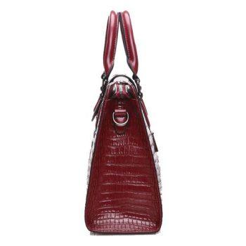 Modern Crocodile Style Messenger Handbag - Lignou1