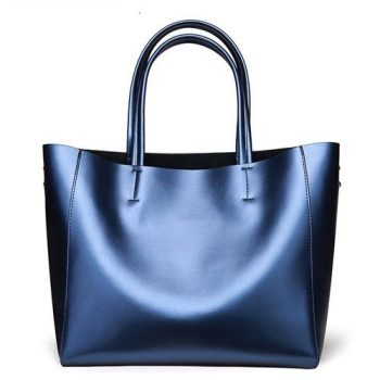 Modern Style Leather Tote Bag - Laleu
