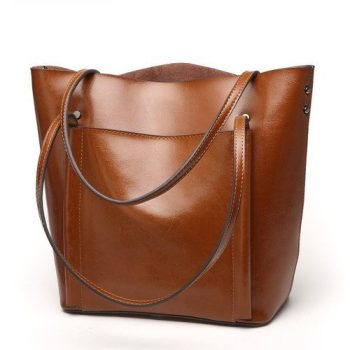Retro High Capacity Leather Tote Bag - Vinneuf2