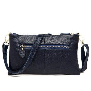 Versatile Light Leather Handbag - Crest1