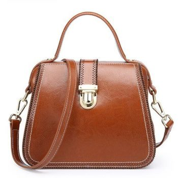 Vintage Leather Shoulder Bag - Auxon