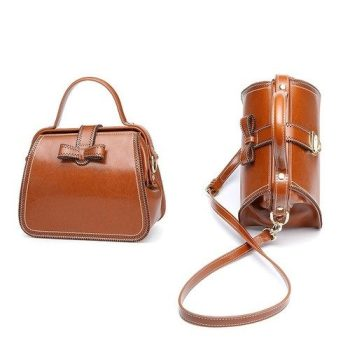 Vintage Leather Shoulder Bag - Auxon1