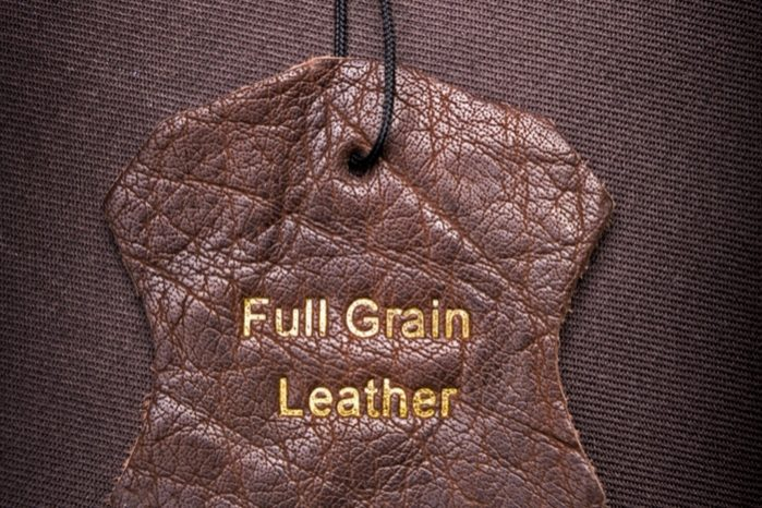 How is full grain leather made