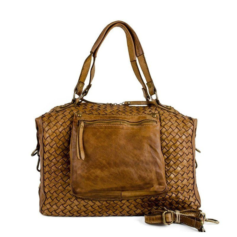 Authentic Natural Leather Vintage Tote Bag For Women - Bologna · Authentic  ... f567ea963a70c