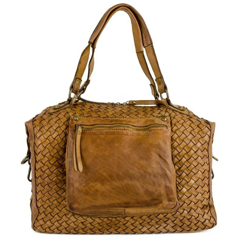 8a31acd54b208 Authentic Natural Leather Vintage Tote Bag For Women - Bologna ...