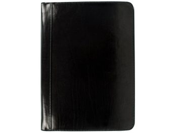 Black Classic Leather Document Folder - Candide1