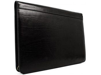 Black Classic Leather Document Folder - Candide2