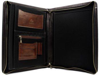 Black Classic Leather Document Folder - Candide4