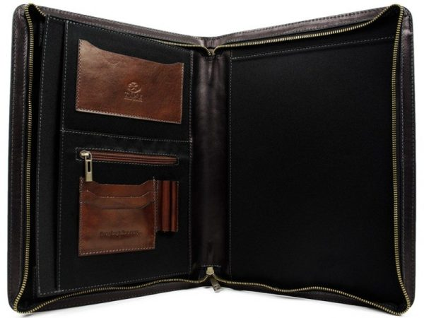 Black Classic Leather Document Folder - Candide4