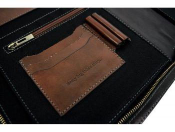 Black Classic Leather Document Folder - Candide5