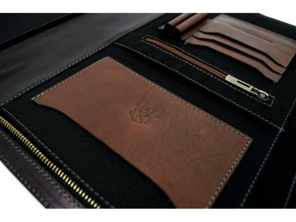 Black Classic Leather Document Folder - Candide6