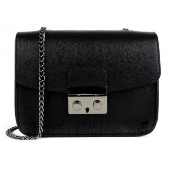 Black Elegant Leather Handbag - Milan