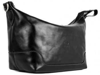 Black Genuine Leather Toiletry Bag - Autumn Leaves4