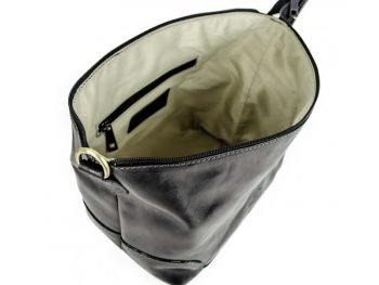 Black Genuine Leather Toiletry Bag - Autumn Leaves5