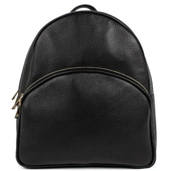 Black Leather Backpack For Women - Melisa