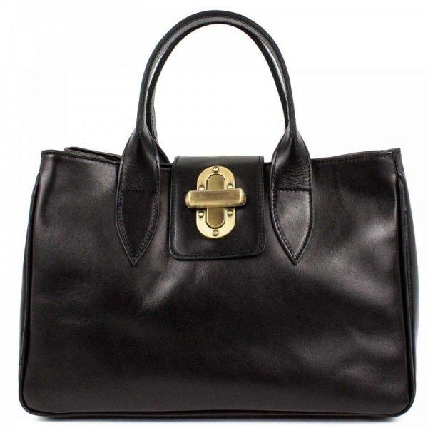 Black Leather Messenger Bag For Women - Ilaria