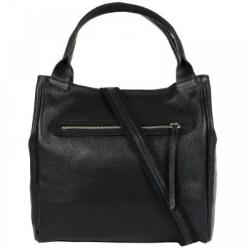 Black Leather Purse For Women - Alvise