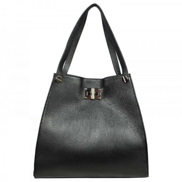 Black Leather Tote Bag For Women - Delanna