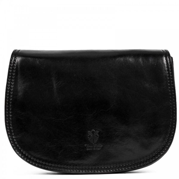 Black Over The Shoulder Leather Purse For Women - Marco
