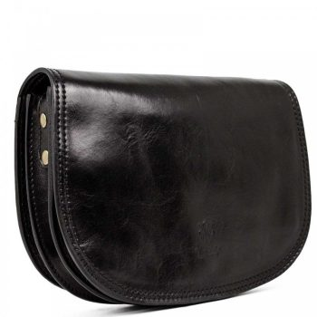 Black Over The Shoulder Leather Purse For Women - Marco1