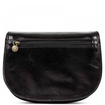 Black Over The Shoulder Leather Purse For Women - Marco2